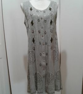 🌺 NWT Flower Vintage Style Embroidered Dress